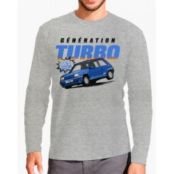 Camisola Renault Turbo Cinza