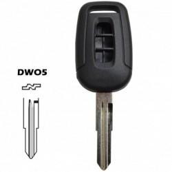 Carcaça chave retratil 3 botões Renault Dacia