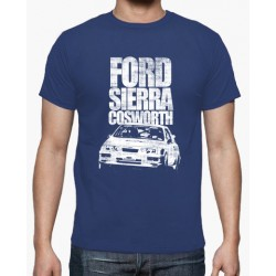 T-shirt Ford Sierra Cosworth Azul