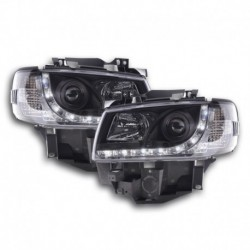 VW Bus T4 Daylight Faróis LED DRL 96-03 Preto