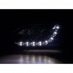 Xenon Daylight headlights with LED DRL look Porsche Cayenne Yr. 03-07 black