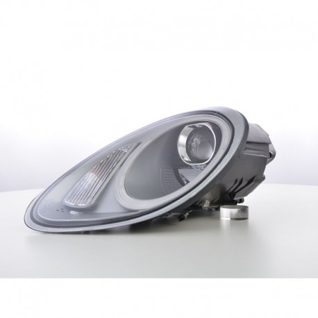 headlights Xenon Daylight LED DRL look  Porsche Boxster Typ 987 year 04-09 silver