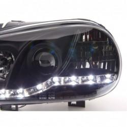 headlights Xenon Daylight LED DRL look  Porsche Boxster Typ 987 year 04-09 black
