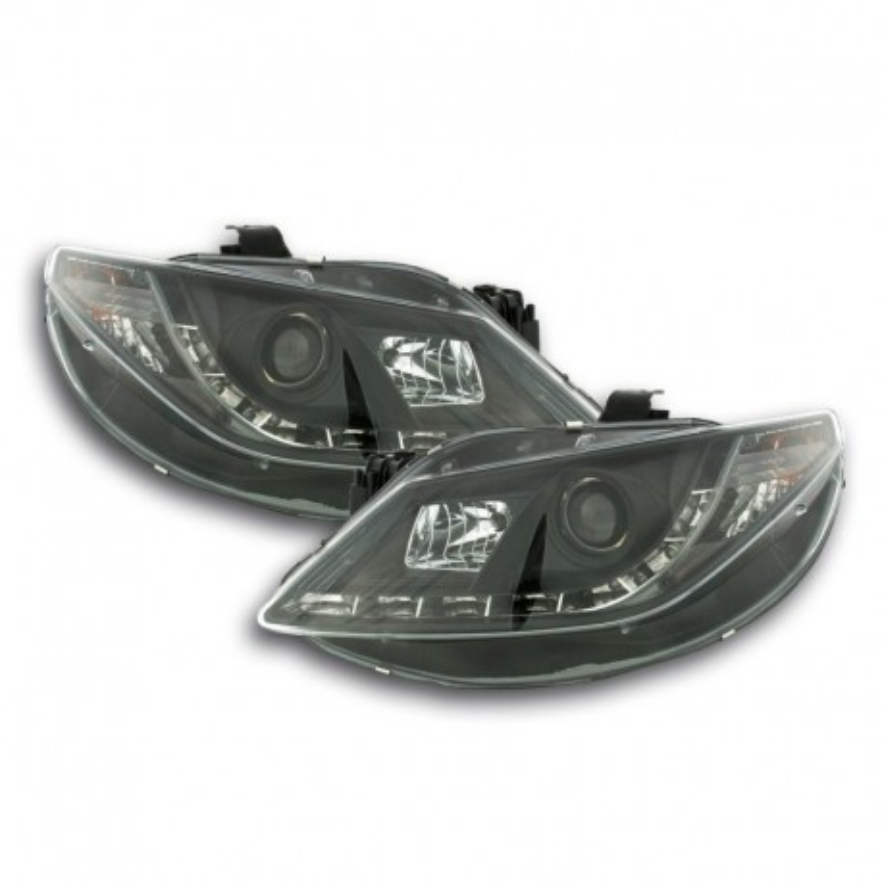 Daylight headlights with LED DRL look Seat Ibiza type 6J Yr. 08-12 black