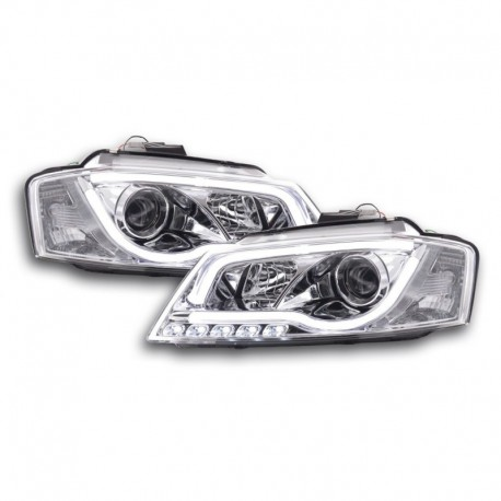 Daylight headlights with LED lightbar DRL Audi A3 8P/8PA Yr. 08-12 chrome