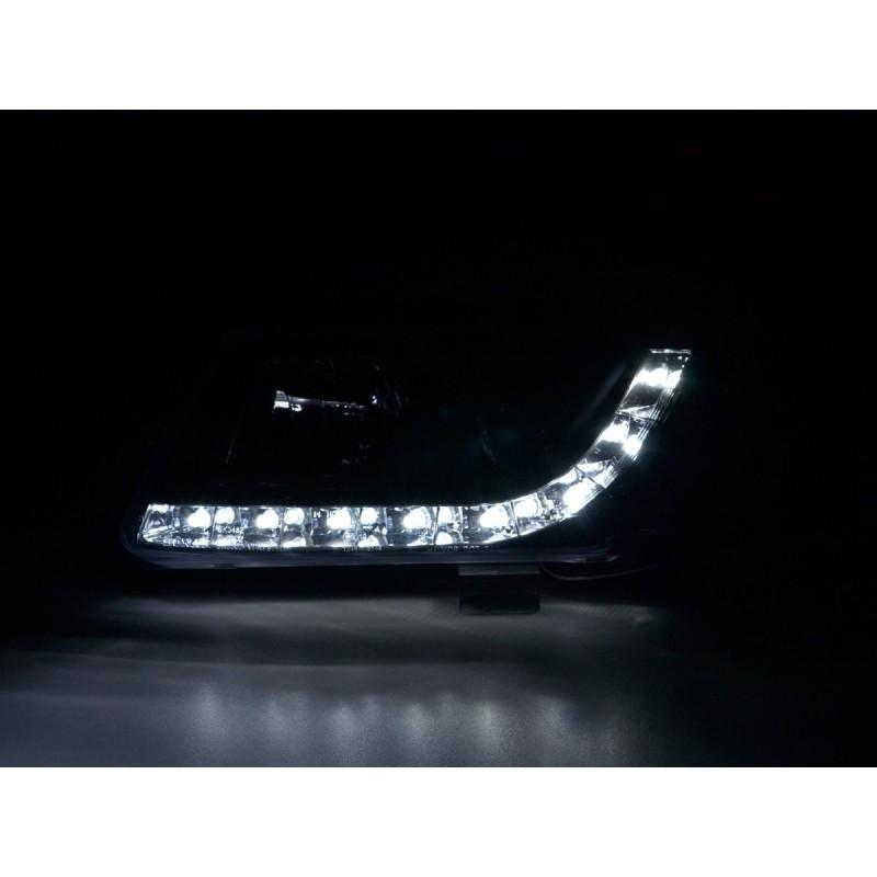 headlights Xenon Daylight LED daytime running light Audi TT 8J Yr. 06-10 black
