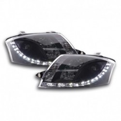 Daylight headlights with LED DRL look Audi TT 8N Yr. 99-06 black