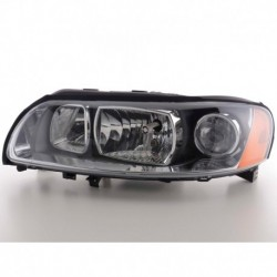 Spare parts headlight left Volvo S60 (R) Yr. 04-09, black