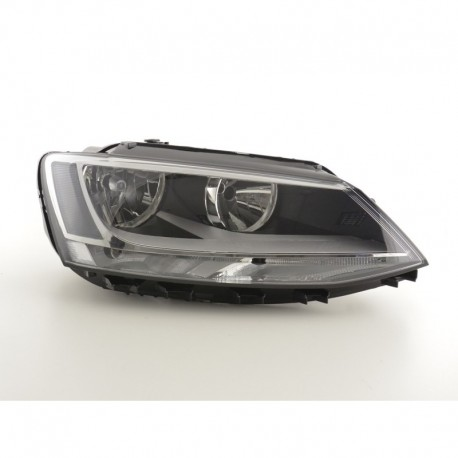 Spare parts headlight right VW Jetta 6 Yr. from 2010 black