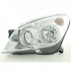 Spare parts headlight left Opel Astra H Yr. 07-09, chrome