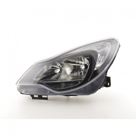 Spare parts headlight left Opel Corsa D Yr. from 2011 black
