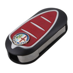 Carcaça chave comando 3 botões Alfa Romeo Mito Giulietta 159 GT