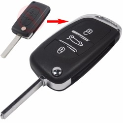Kit conversão comando chave 3 botões PSA