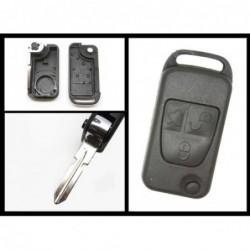 Carcaça cromada comando 3 botões Mercedes