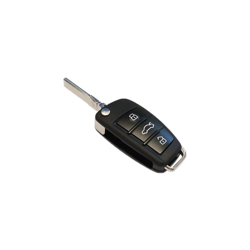 Chave retratil para Audi (Versão botões arredondados)