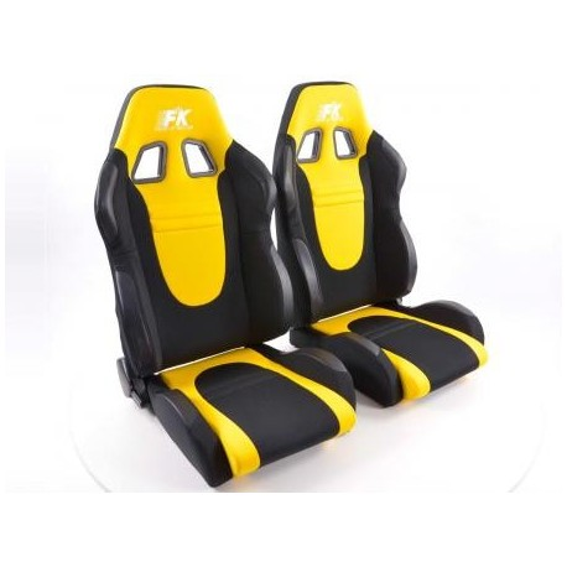Conjunto 2 Backets Racecar Preto / Amarelo