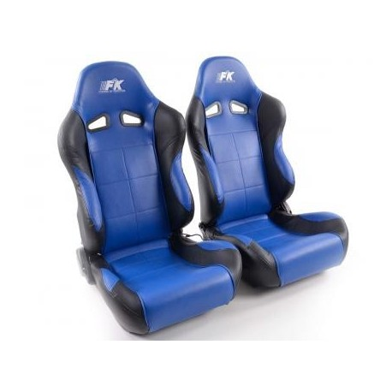 Conjunto 2 Backets Comfort Napa Azul / Preto