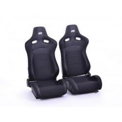 FK sport seats used half bucket seats Set K??ln artificial leather/textile black
