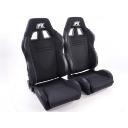 Conjunto 2 Backets Racecar com Aquecimento e massagem