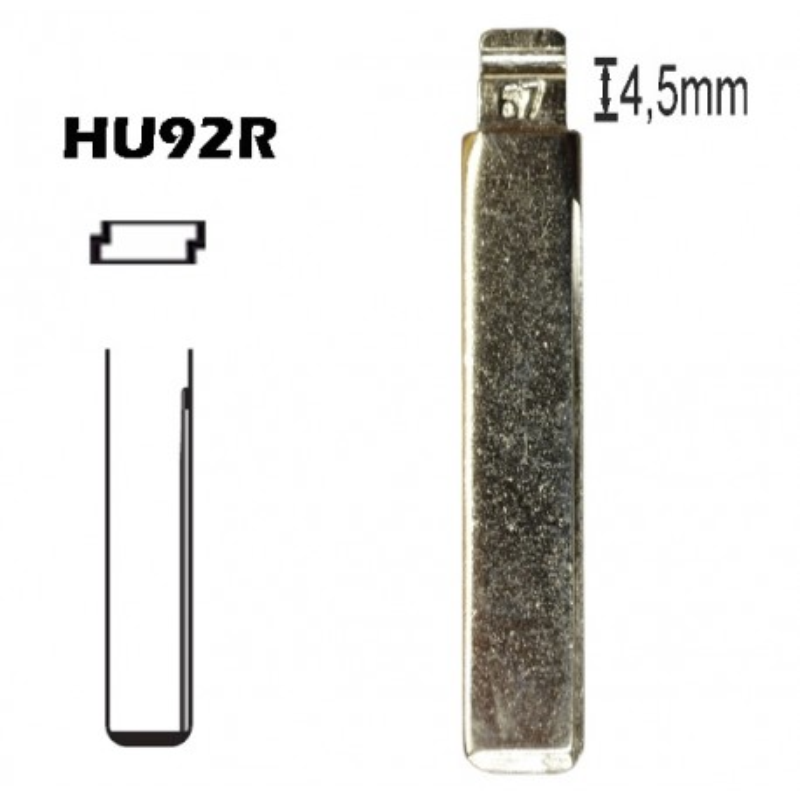 Lamina para chave retratil HU92R